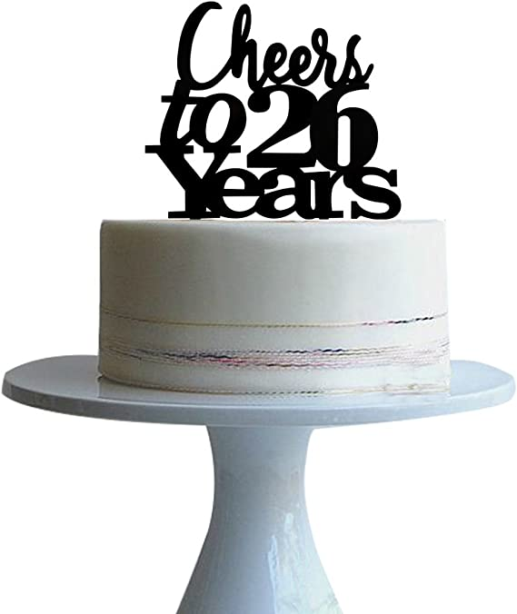 Amazon Com Btsond Cheers To 26 Years Cake Topper For 26 Years