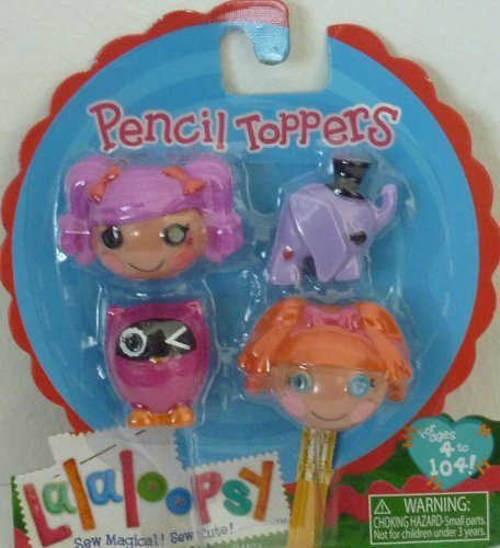 Lalaloopsy Pencil Toppers- Peanut Big Top & Bea Spells-a-Lot by Lalaloopsy