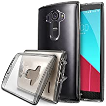 LG G4 Case - Ringke FUSION ***COMPATIBLE  with LEATHER LG G4*** [FREE HD Film][SMOKE BLACK][All New Dust Cap & Drop Protection] Premium Crystal Clear Back Shock Absorption Bumper Hard Case for LG G4 - Eco/DIY Package