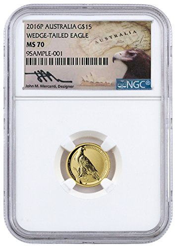 2016 AU 0.1 oz Gold Australia Wedge-Tailed Eagle (Mercanti 15 Dollar MS70 NGC