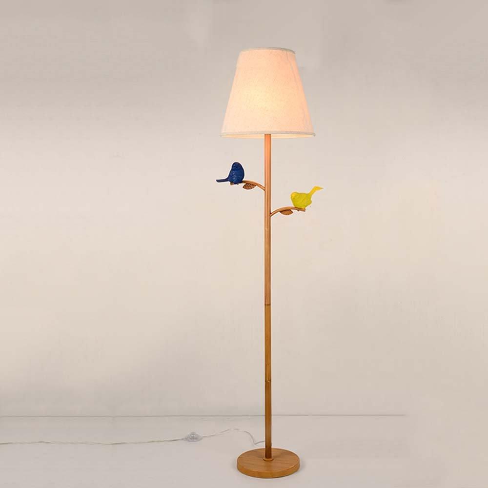 Im europäischen Stil Stehlampe Serie Nordic American moderne minimalistische kreative Vogel Eisen Kunst Stehleuchte Wohnzimmer Schlafzimmer Studie Stehleuchte (Farbe optional) - Retro-Stehlampe ( farbe : Weiß )