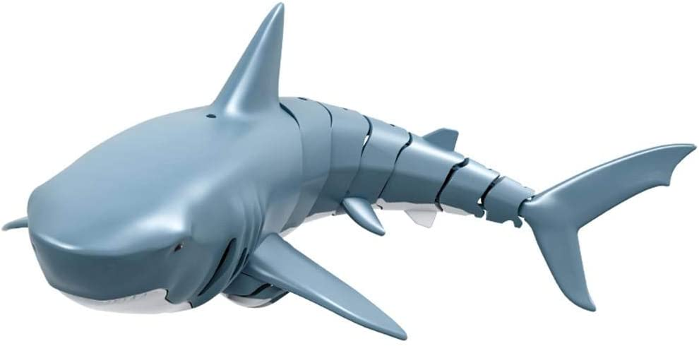 Gereton 2.4G Simulation Remote Control RC Shark Electronic Toy Fish Model Boat for Swimming Pool Bathroom Toy