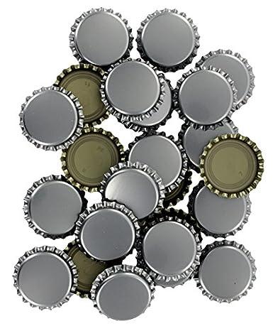 Bottle Caps-12 Gold oxygen or Silver oxygen Barrier Bottle caps-Silver bottle caps-beer supplies-Craft supplies