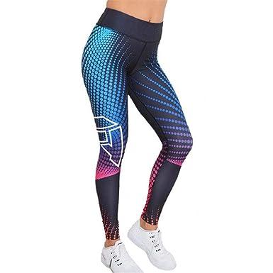 SHOBDW Mujeres Impresión 3D Colorido Cintura Alta Estiramiento Yoga Flacos Entrenamiento Capri Leggings Gimnasio Fitness Mallas para Correr recortados ...