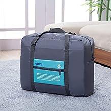ARKTeK Travel Lightweight Duffel Gym Bag Foldable Storage Luggage Bag (Blue)