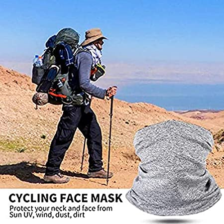 Acutty Multi-Purpose Headwear Head Wrap Neck Gaiter Face Bandanas Scarf Headwear Neck Balaclava and Sport Scarf with Pad Anti Dust 2 Pcs for Outdoors Summer Cycling Hiking Fishing