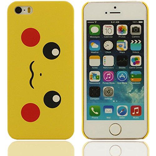 Hard Cover Case protection en plastique Coque de Creative Design Pattern Beaux yeux case pour Apple iPhone 5 5S 5G(jaune)