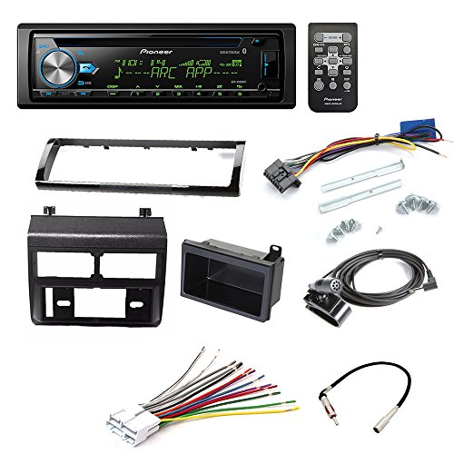 PIONEER DEH-X6900BT CD RECEIVER CAR STEREO CAR STEREO RADIO DASH INSTALLATION MOUNTING KIT+ ADD ON STORAGE POCKET+ WIRING HARNESS + RADIO ANTENNA ADAPTER FOR SELECT CHEVROLET AND GMC VEHICLES by American International , Metra, Scosche (Image #8)'