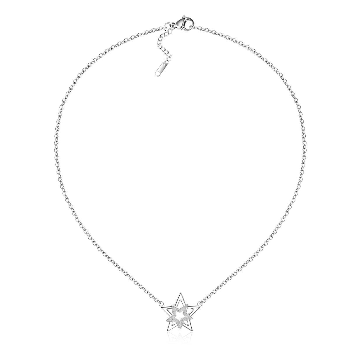 shape solitaire star from gold jewellery pendants pendant diamond white shaped image
