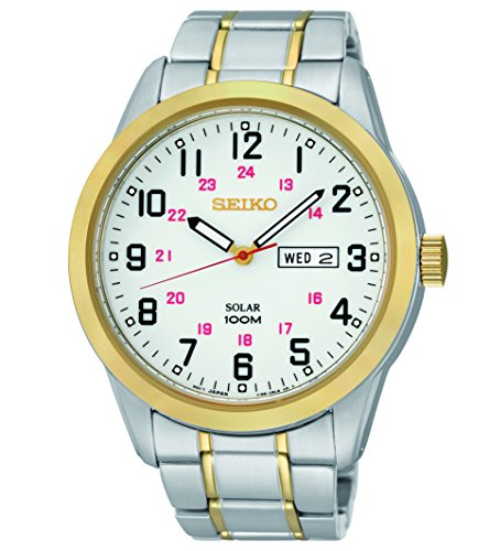 Seiko® Men's Two-Tone Solar Dress Watch
