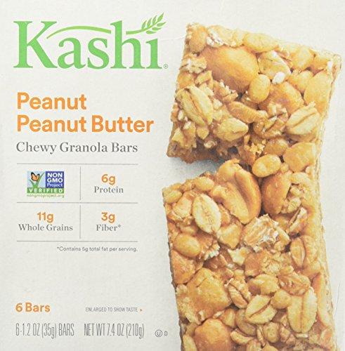 Kashi Chewy Granola Bar, Peanut Peanut Butter (1.2 oz X 6), 7.4 Ounce ()