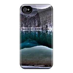 Faddish Phone A Well In A Green Lake Hdr Case For Iphone 4/4s / Perfect Case Cover
