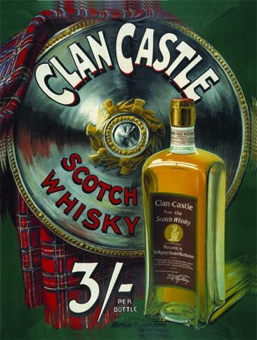 Original metals signs - Clan Castle Whisky - 15x20cm