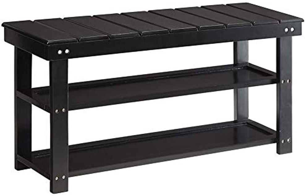 Convenience Concepts Oxford Utility Mudroom Bench, Black