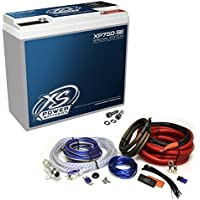 XS Power XP750SE 750A 12V AGM Battery/Power Cell + AKR4 4 Gauge Wire Kit XP750
