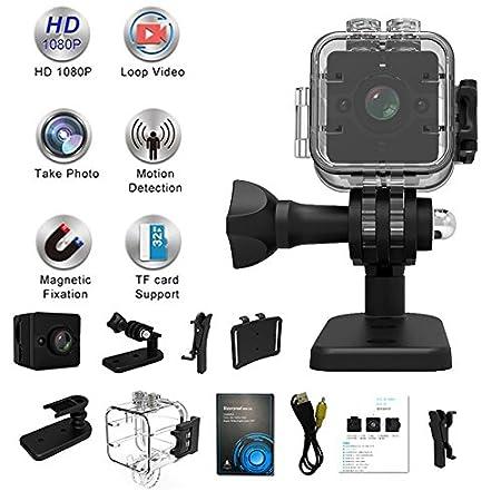 Ruimin SQ12 - Mini cámara de visión nocturna HD 1080P con lente DVR deportiva y videocámara de gran angular: Amazon.es: Electrónica