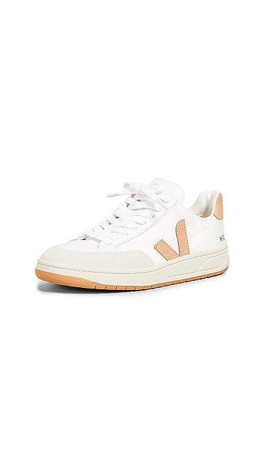 bf7de18c3a VEJA Baskets Modèle V-12 en Tissu Blanc avec Logo Marron, Taille UK:  Amazon.fr: Chaussures et Sacs