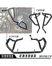 XX eCommerce Motorcycle Black Engine Guard Crash Bar Fairing Frame Protector Upper Lower for Honda CB500X CB 500 X CB 500X 2019 2020 2021 (Upper+Lower)