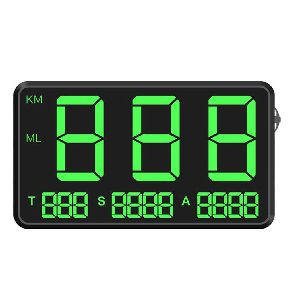 Opef Original Universal GPS Head Up Display Speedometer Odometer Car Digital Speed Display MPH Over Speeding Alarm Car Clock for All Vehicles by Opef