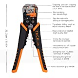 Wire Stripper, Tacklife Self-Adjusting 8.4 Inch Cable Cutter Crimper , 3 in 1 Multi Pliers for Wire Stripping, Cutting, Crimping- MWS02