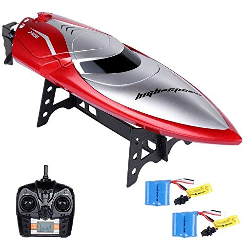 (Lictin Remote Control Boat-Kids RC Boat 2.4GHz High Speed RC Boat Electric Racing Boat with 2 Batteries The Sailing Time up to 14min for Kids)