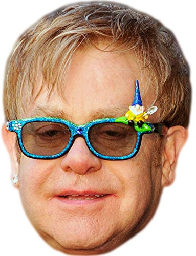 (Elton John Celebrity Mask, Card Face and Fancy Dress)