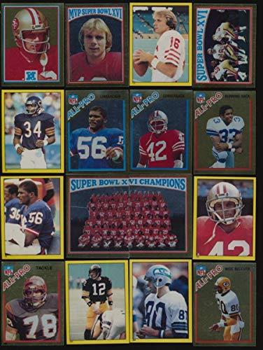 (1982 Topps Stickers Football NRMT avg complete 288 card set high grade 50241)