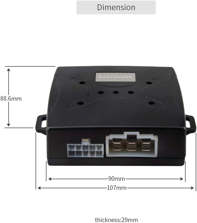 EASYGUARD EC003N-V-1 PKE Passive Keyless Entry Car Alarm System Push Start Button Remote Start Starter DC12V