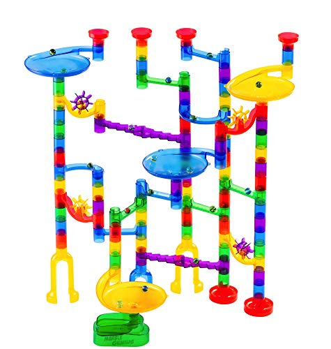 84 Action Pieces+25 Glass Marbles 109 Pieces Faithful Tomi Toys Marble Run Set - M...