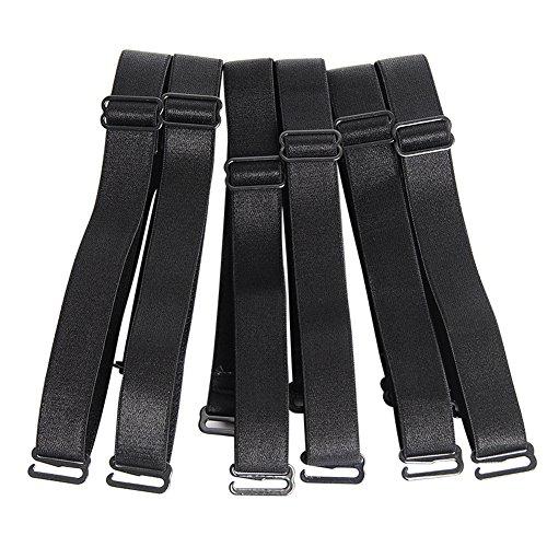 Straps Black Bra - Closecret Women's Convertible Bra Straps with 12mm 15mm 18mm Width Optional (12mm Width Band, Black)