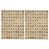 Happy Hours - Individual Alphabet Letters Scrabble Tiles Set / DIY Wooden Letter Crafts For Children Student ( 200 PCS )