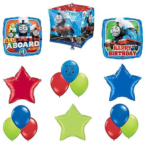 Guaranteeing100percentnow™ Thomas The Tank Party Supplies Birthday Balloon Cubez Forever Balloon Decorating (Thomas The Train Centerpieces)
