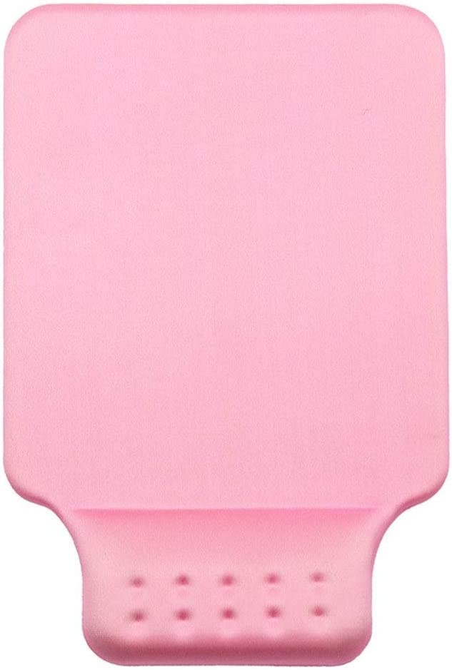Suitable for Office Workers Cute Non-Slip Massage Wrist Pad Mouse Pad Memory Cotton Wrist Pad Gray, Blue, Black, Pink, 25x17cm//106.8 Inches Color : Pink, Size : 25x17m 2mm