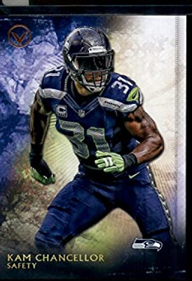 2015 Topps Valor #198 Kam Chancellor Football Card In Protective Display Case