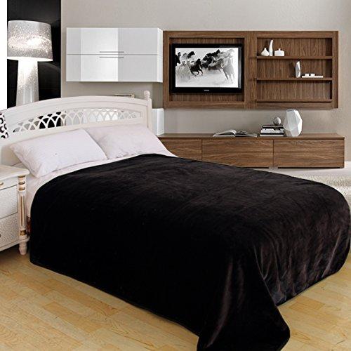 ShiGo Heavy Weight Super Soft Luxury Twin size Blanket 60X80Solid Black