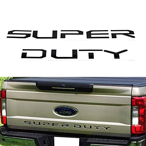 ((9) Glossy Black Thin Vinyl Super Duty Letter Inserts For 2017-up Ford F-250 F-350 F-450 F-550 Rear)