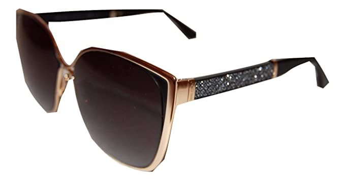 888f2c55b9f JIMMY CHOO MATY S 17B GOLD BLACK GLITTER SUNGLASSES  Amazon.co.uk  Clothing