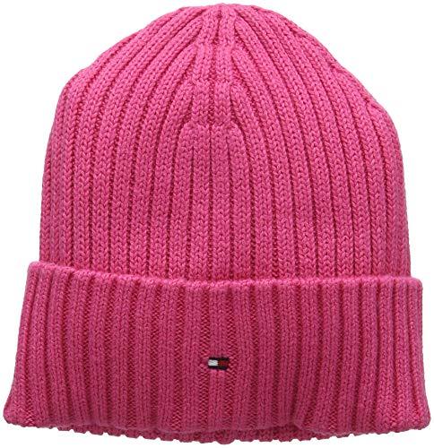 Adulto Beanie Hilfiger Pima Tommy Punto Unisex Cashmere Pink 902 de Gorro Rosa Flambe Cotton wxZIITF