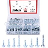 Hilitchi 220-Pieces Zinc Plated Hex Washer Head