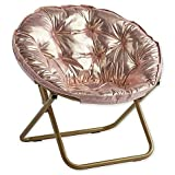 Stylish and Comfortable 225 lb. Seating Saucer Chair (Rose Gold)