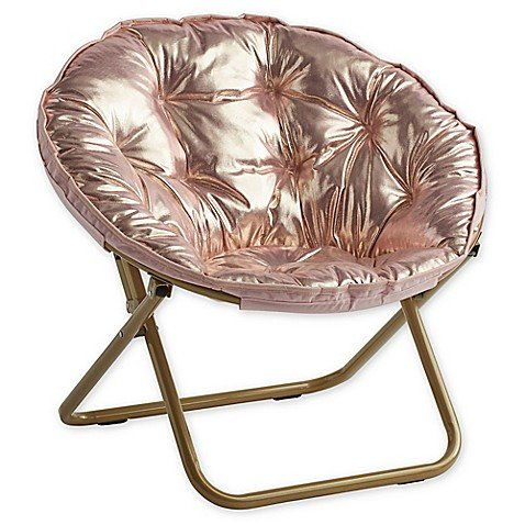 Stylish and Comfortable 225 lb. Seating Saucer Chair (Rose Gold) by Generic