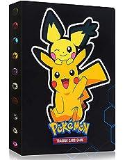 GUBOOM Pokemon-plakboek, Pokemon-kaarten album, verzamelalbum Pokemon-kaarten, Pokemon-map, Pokemon-verzamelaar, Pokemon-map, kaarten album boek, kan tot 240 kaarten bevatten (Pikachu)