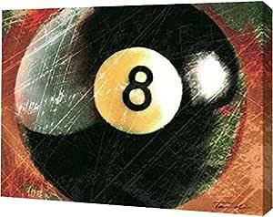 "PrintArt GW-POD-29-POD5133-16x12 ""Behind The 8 Ball"" by Tandi Venter Gallery Wrapped Giclee Canvas Art Print, 16"" x 12"""