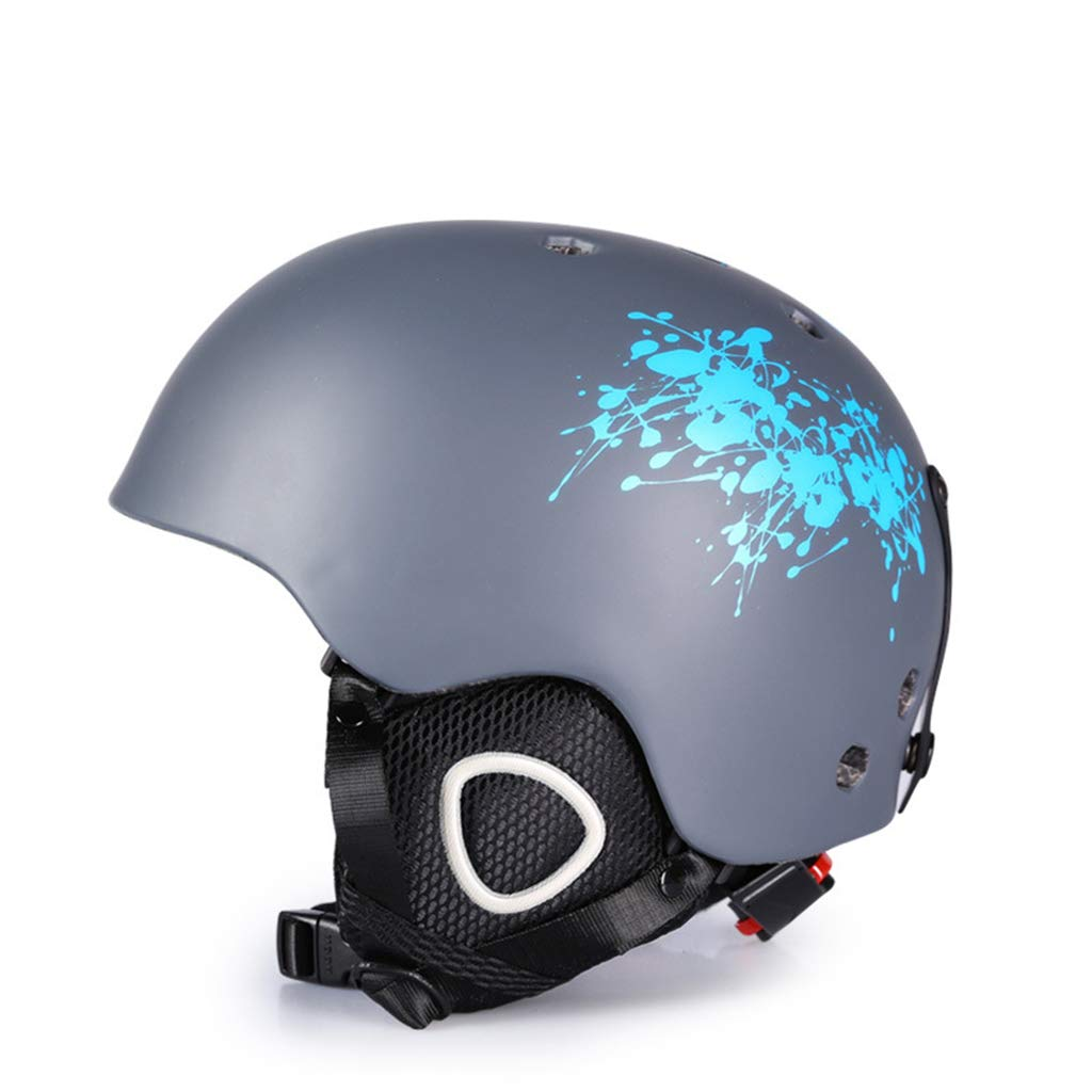 BLUEDYYY Skihelm Schnee Helm Skateboard Ski-Schutz-Fahrrad/Skateboard-Helm für Erwachsene Pendler Fahrrad Skate Breathable Bequem für Outdoor-Baseball,F,L