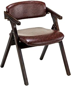 Dining Chair丨Office Computer Armchair丨Desk Chair丨Foldable Dining Chair,53.5X57X74CM (Color : A)