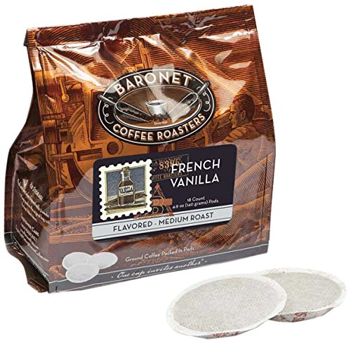 Baronet Coffee French Vanilla Coffee Pods Bag, 54 -
