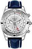Breitling Chronomat 44 GMT Men's Watch on Blue Leather Strap AB042011/G745-105X
