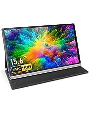 """Houshome T15-4K monitor portátil de 15,6"""" com resolução de 4K e substituição de expansão de tela para switch / PS4 / PC/conector americano de laptop"""