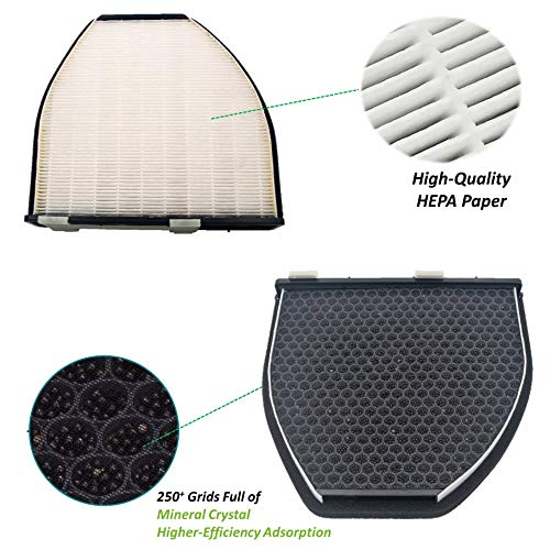Double Filtering Cabin Air Filter Fit Mercedes Benz C/CLS/SL/SLS/E Class,with High-Efficiency Adsorption,Replace 2128300318,2048300518,2128300218