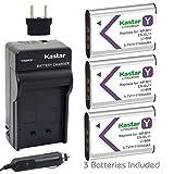 Kastar Battery 3X + Charger for NP-BY1 EN-EL11 LI-60B DLI-78 DB-L70 DB-80 Sony Action Cam Mini HDR-AZ1 Nikon Coolpix S550 S560 Olympus FE-370 Pentax Optio L50 M50 M60 V20 W60 W80 Ricoh R50 VPC-E10